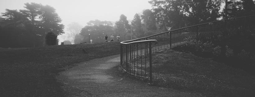 ejb writing studio, terrible creative blog, black and white park, golden gate park, moody park, san francisco fog